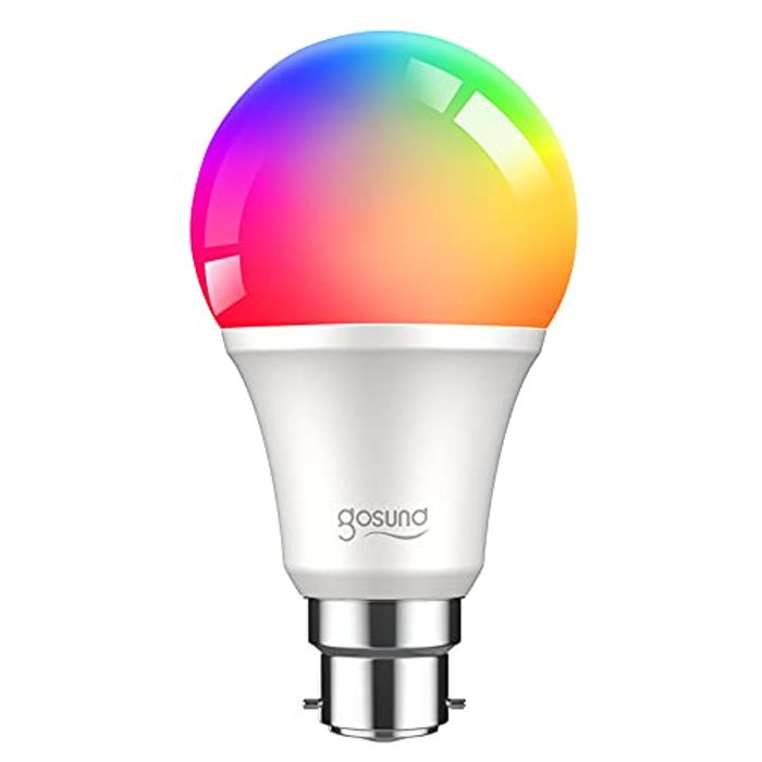 Smart RGB Light Bulb, Work with Alexa, Google Home for Only £5.99