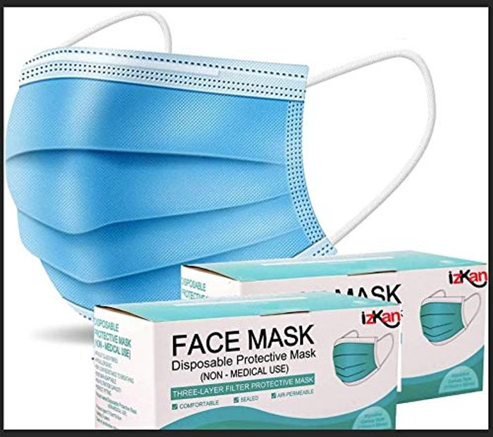 100 3 Ply Disposable Face Masks