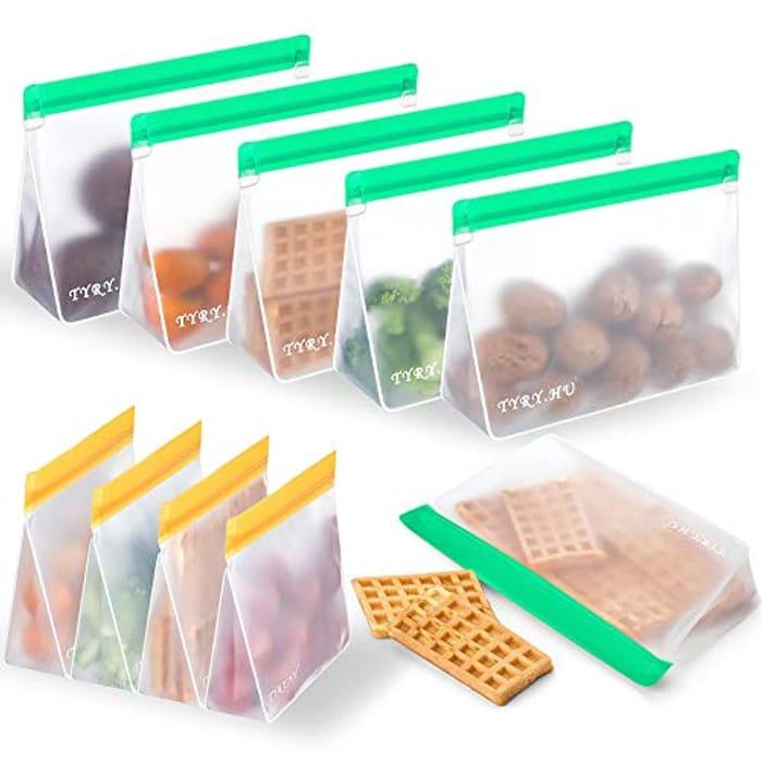 10pcs Reusable Food Storage Bags