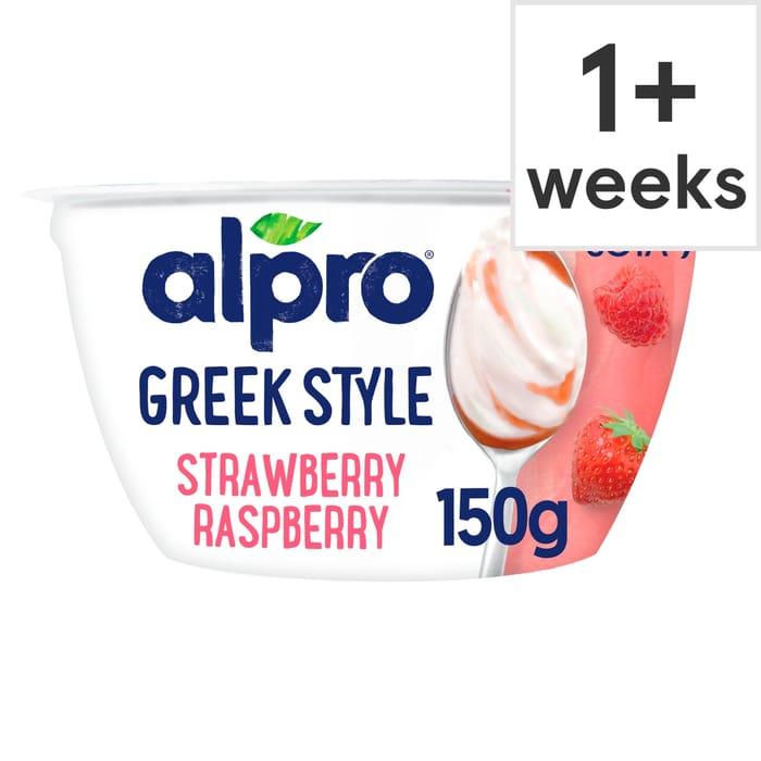 Alpro Greek Style Strawberry Raspberry Yogurt Alternative 150G