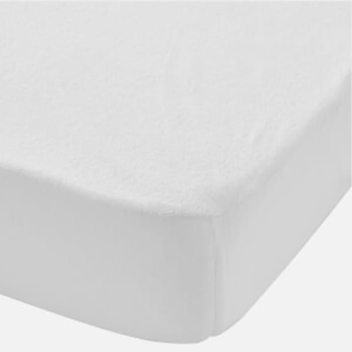 In Homeware Baby Waterproof Terry Mattress Protector White - Cot