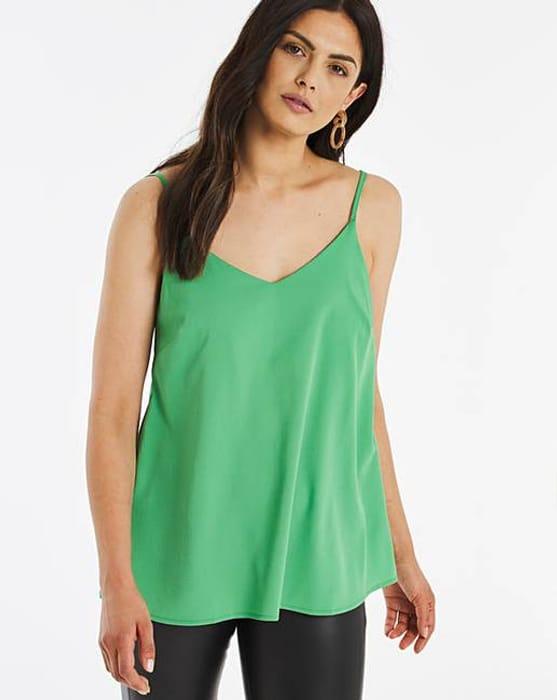 Green Woven Strappy Cami