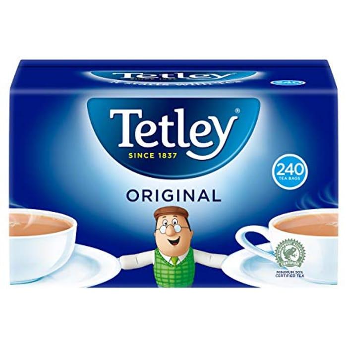 Tetley Original 240 Tea Bags, 750g, Single Pack