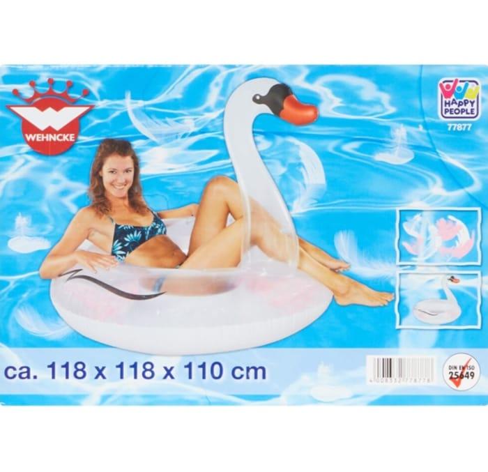WEHNCKE White Swan Pool Float 110x118cm