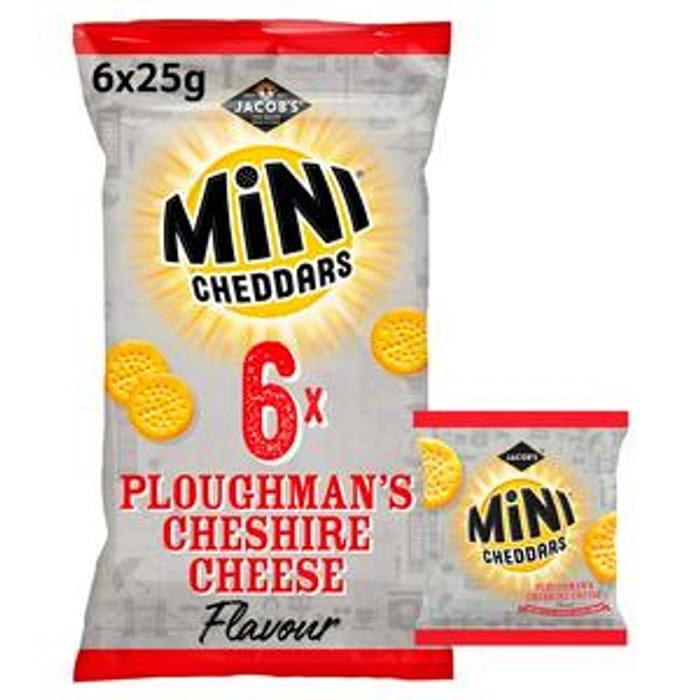 Jacob's Mini Cheddars Ploughman's Cheshire Cheese Snacks 6x25g