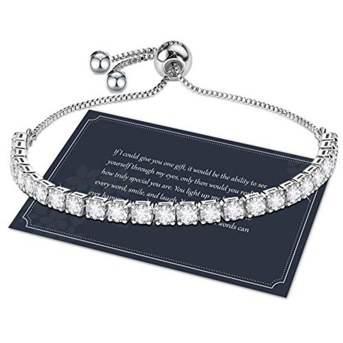 Bracelet for Women,Sterling Silver Tennis