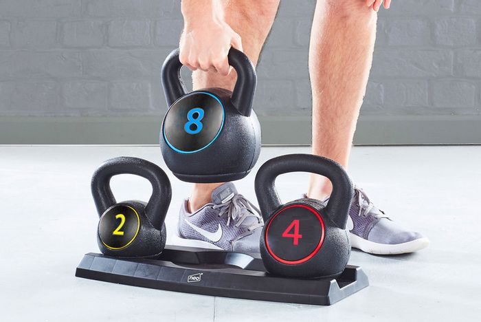 *SAVE £45* 3-Piece Kettlebell Weights - 2KG, 4KG and 8KG