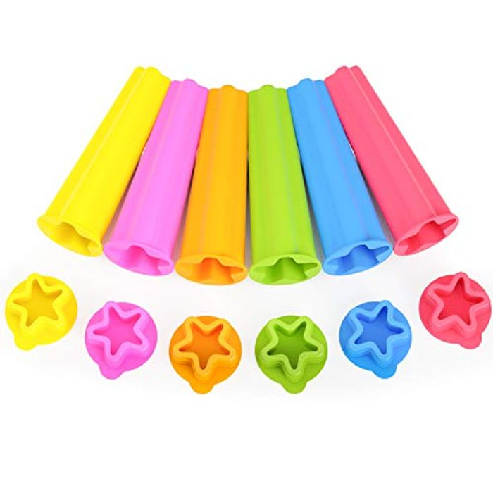 6pcs Silicon Ice Lolly Moulds