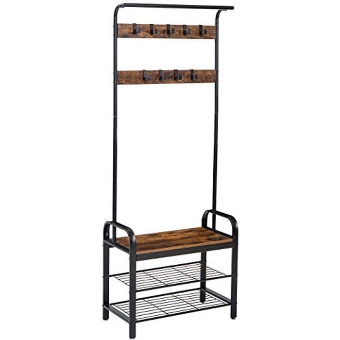 IBUYKE Coat Rack Stand, 72.5x35 X185cm, Industrial Coat Tree,