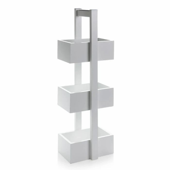 White Free Standing Bathroom Storage Unit 75 Cm