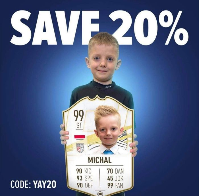 Save 20% off All Orders (Personalised Football Cards)