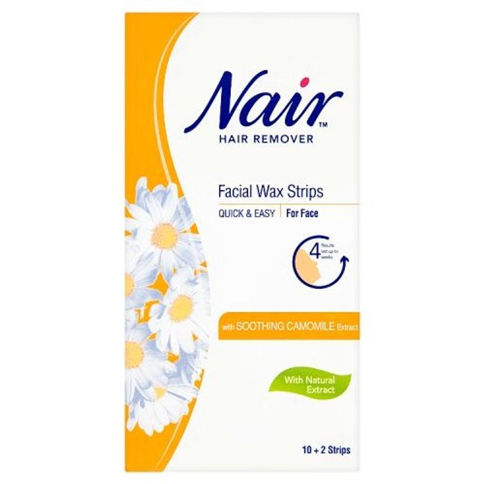 Nair Facial Wax Strips 12