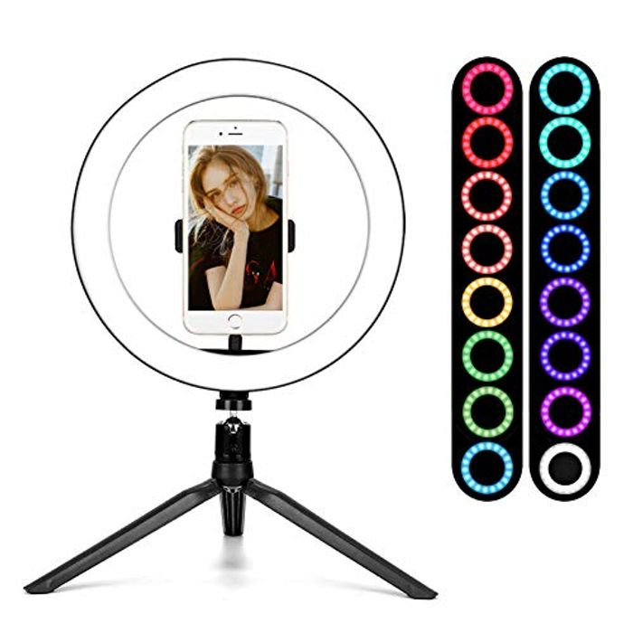 """BLOOMWIN Ring Lights with Stand 10"""" LED Ringlight"""