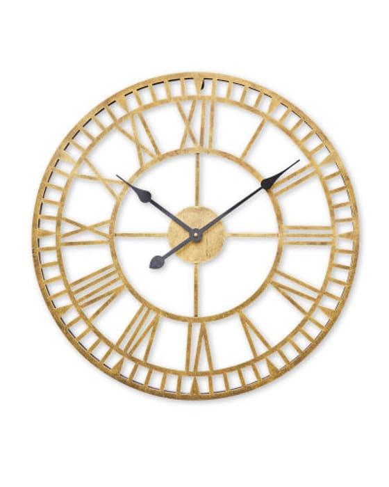 Kirkton House Metal Skeleton Clock