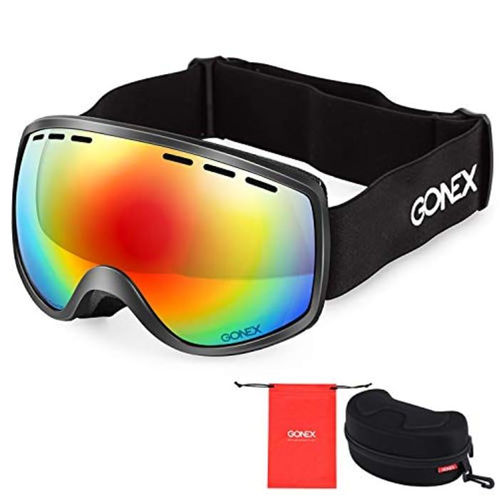 Gonex Kids Anti Fog Ski Goggles UV400 Protection