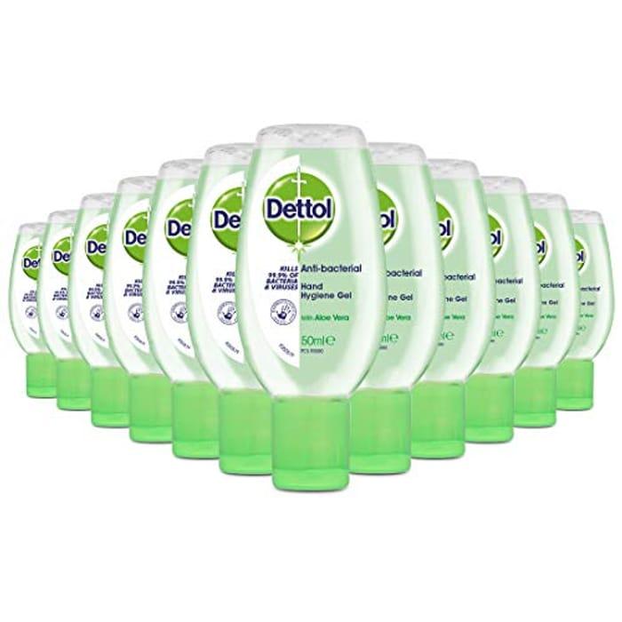 Back in Stock! Dettol Hand Sanitiser Gel with Aloe Vera, Pack of 12