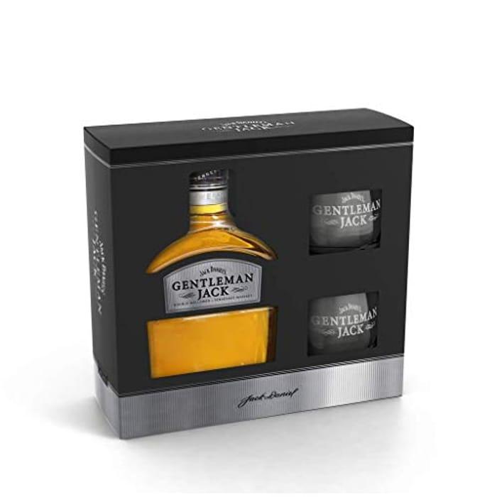 Jack Daniels Gentleman Jack with 2 Glasses Gift Pack, 70 Cl