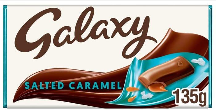 Galaxy Salted Caramel Chocolate Bar, 135 G