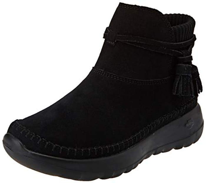 Skechers Women's Go Joy Ankle Boot Black Size 2.5