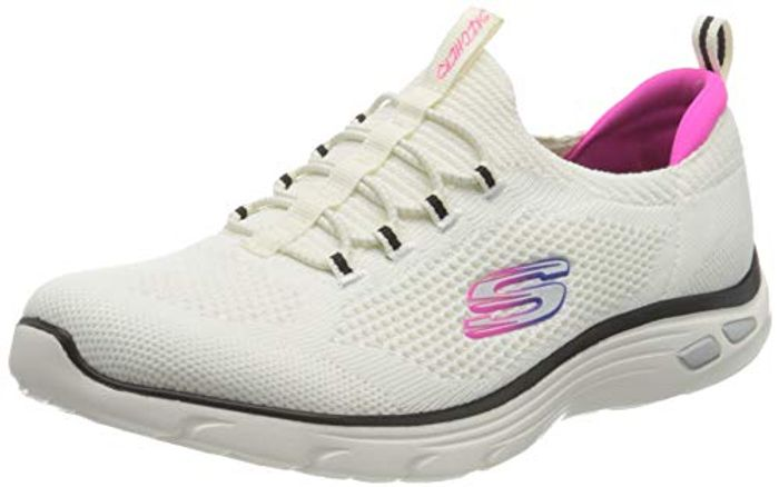 Skechers Women's Empire D'lux Paradise Sky Sneaker White Size 2.5