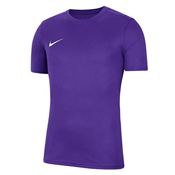 Nike Boys' Dri-Fit Park 7 Short Sleeve Jersey Size S Purple