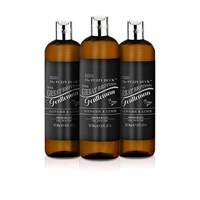Pack of 3 Baylis & Harding Fuzzy Duck Men's Ginger & Lime Shower Gel, 500 Ml