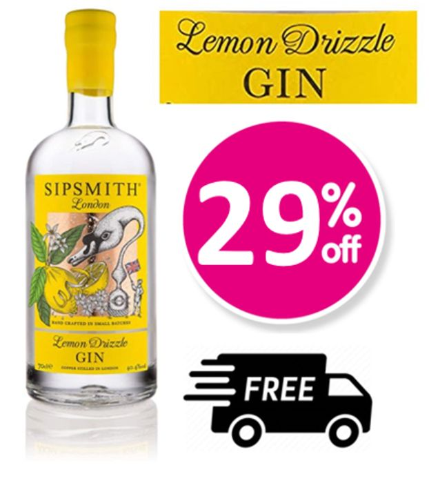 Sipsmith Lemon Drizzle Gin, 70cl + FREE DELIVERY