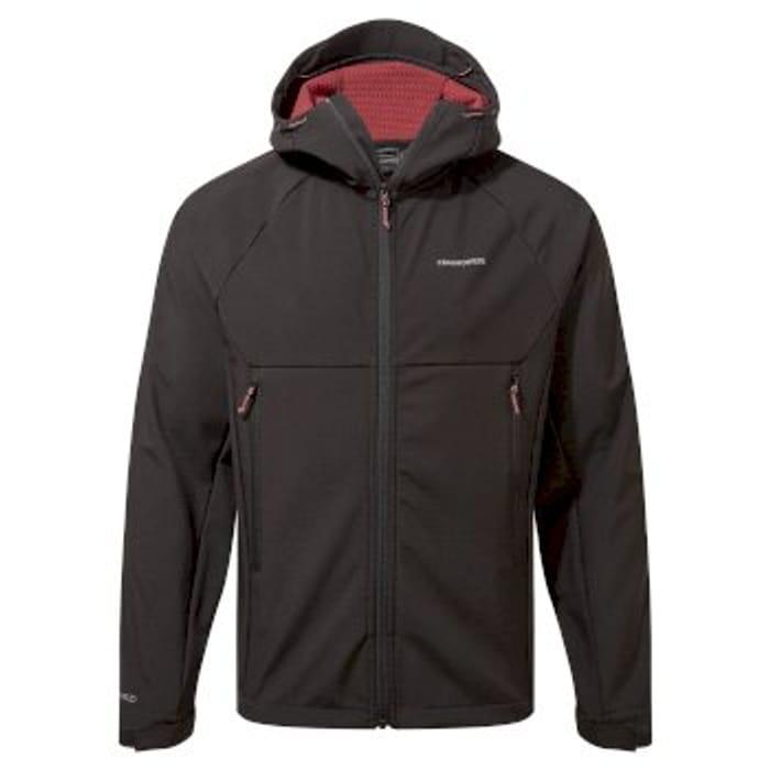 Craghoppers Trent Weatherproof Hooded Jacket - Solid Black/Auburn
