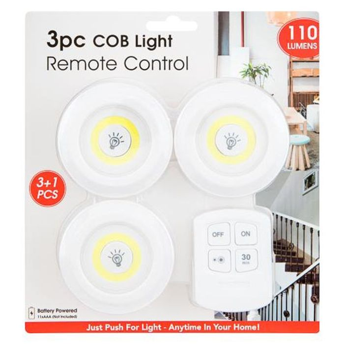 Cob Light Remote Control 3 Pack