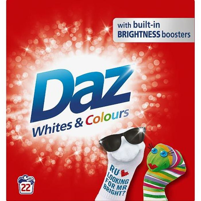 Daz Washing Powder Whites & Colours 22w 1.43kg