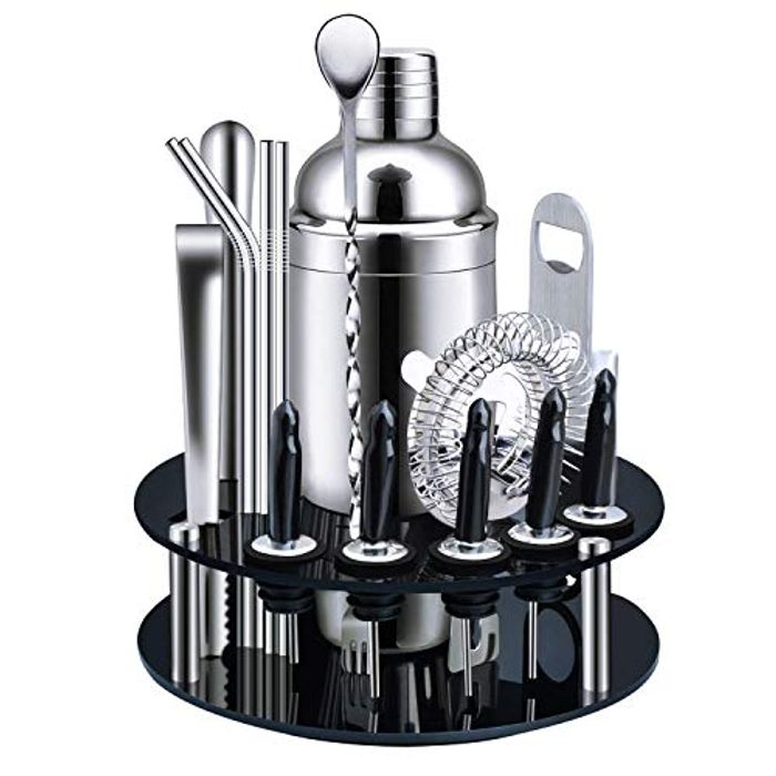 18-Piece Stainless Steel Cocktail Shaker Bar Tools - Only £29.99!