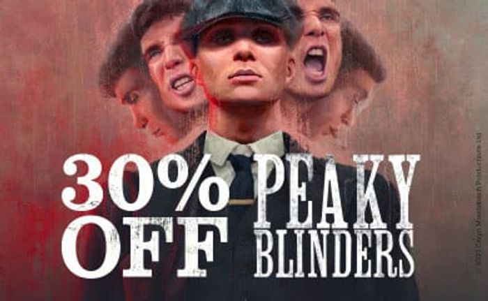 Save 30% off Peaky Blinders Products