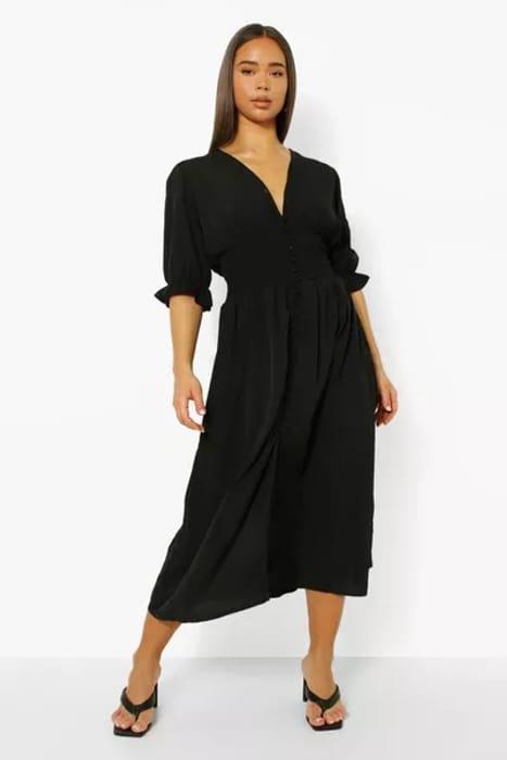 Boohoo Button through Midaxi Dress