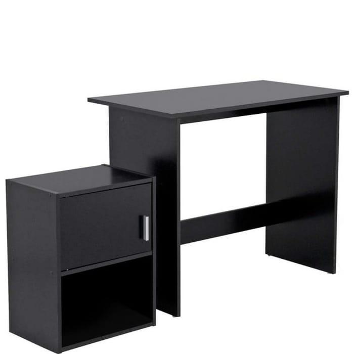 Habitat Soho Office Desk and Cabinet Package - Black