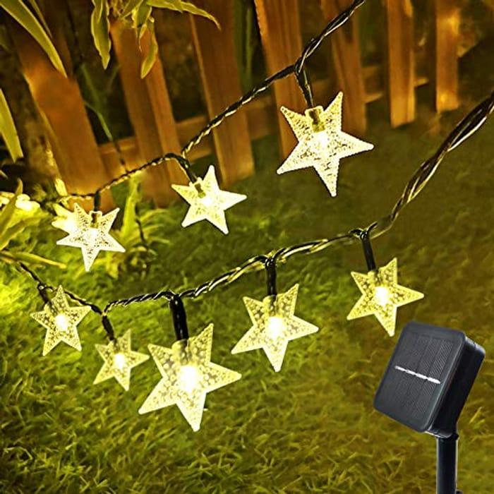 33ft 100 LED Outdoor Solar String Lights Garden Star Fairy Lights - Only £6.79!