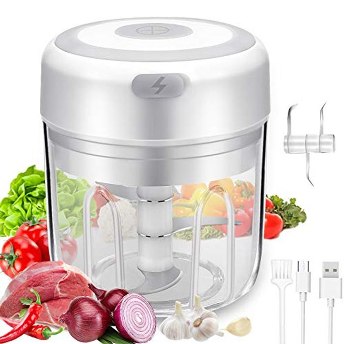 Electric Mini Blender and Chopper with USB Charging - Only £5.6!