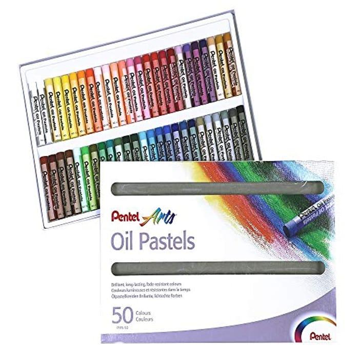 Pentel PHN4-50 Oil Pastels - Pack of 50