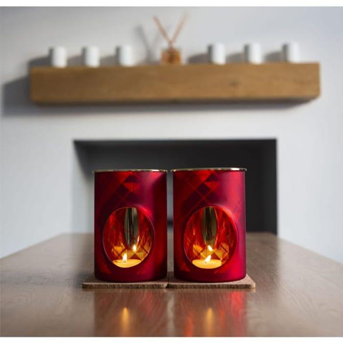 2 X Official Yankee Candle Tartan Flicker Melt Warmers