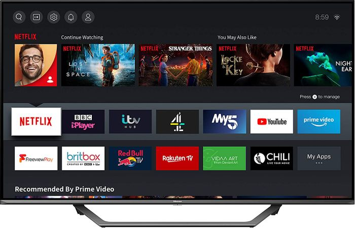 *SAVE £100* HISENSE 43-Inch 4K UHD HDR Smart TV with Freeview Play, and Alexa