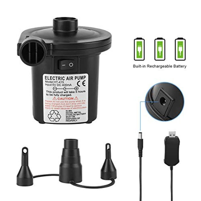 Tuomico Rechargeable Electric Air Pump Electric Air Inflator/Deflator