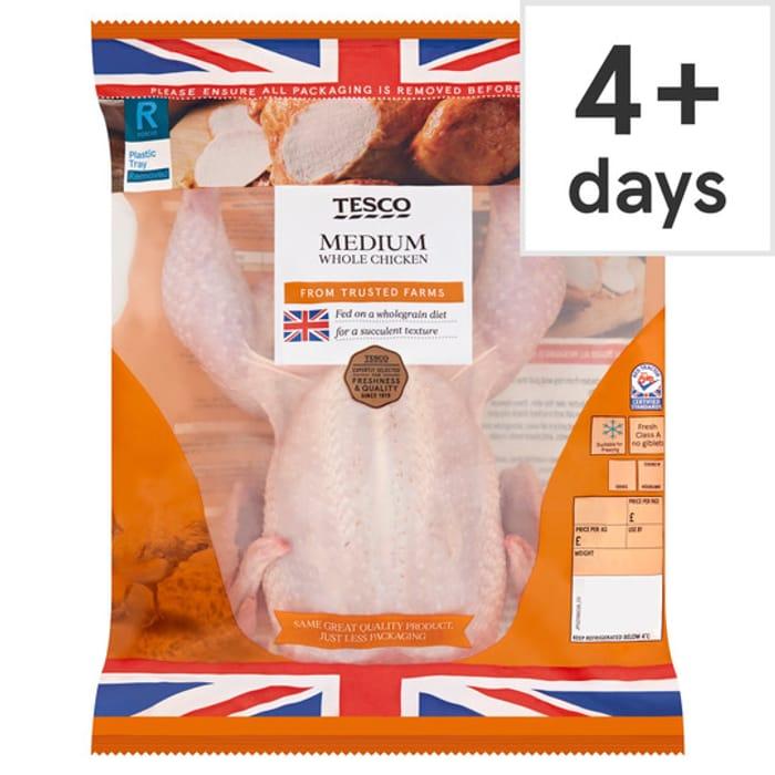 Tesco British Whole Medium Chicken 1.3-1.5Kg