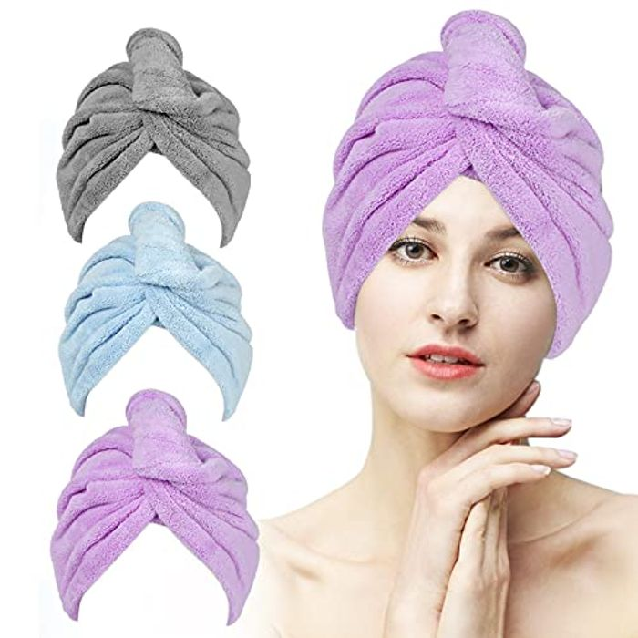 Etercycle Microfiber Super Absorbent Hair Towel Wrap, 3 Pack - Only £4.49!