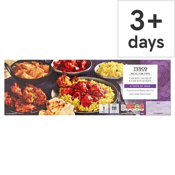 Tesco Chicken Jalfrezi & Chicken Korma Meal - Clubcard Price - Only £3.75!