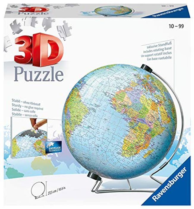 Ravensburger World Globe on a V-Stand 540 Piece 3D