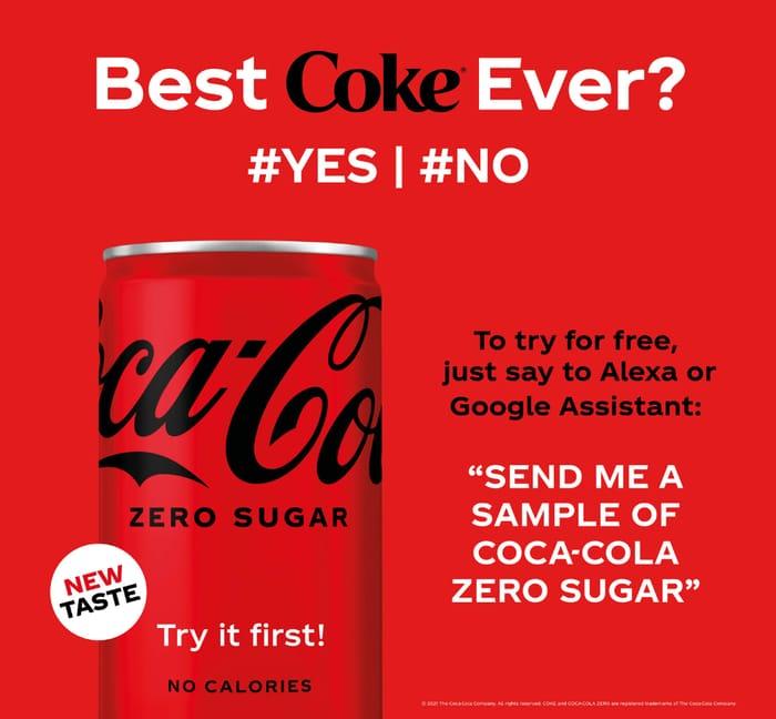 FREE Coca-Cola Zero with Send Me a Sample!