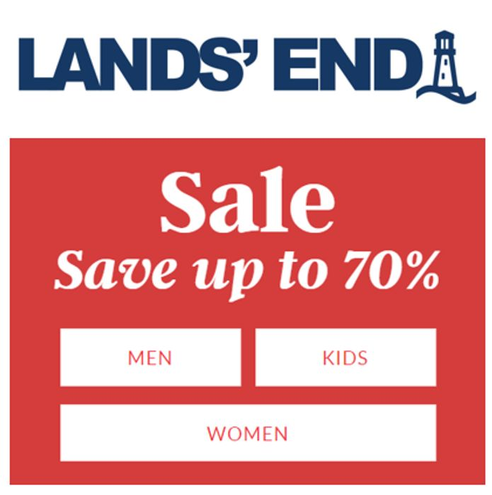 Land's End Sale - save up to 70% off - Womens, Mens & Kids