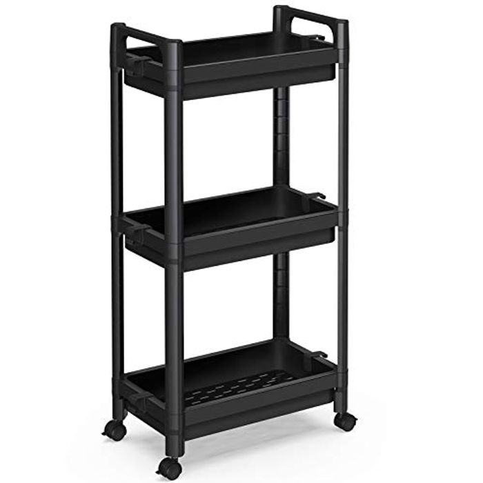 SPACEKEEPER 3 Tier Storage Trolley Slide out Storage Cart - Only £12.49!