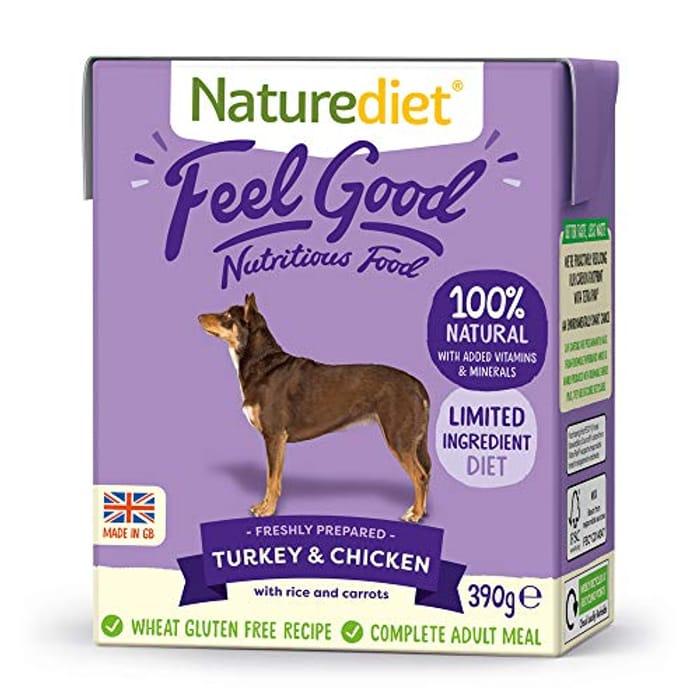 Naturediet - Feel Good Wet Dog Food, Turkey & Chicken, 390g (Pack of 18)