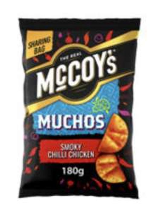 McCoy's Muchos Smoky Chilli Chicken /Nacho/Sour Cream Sharing Bag Snacks 180g