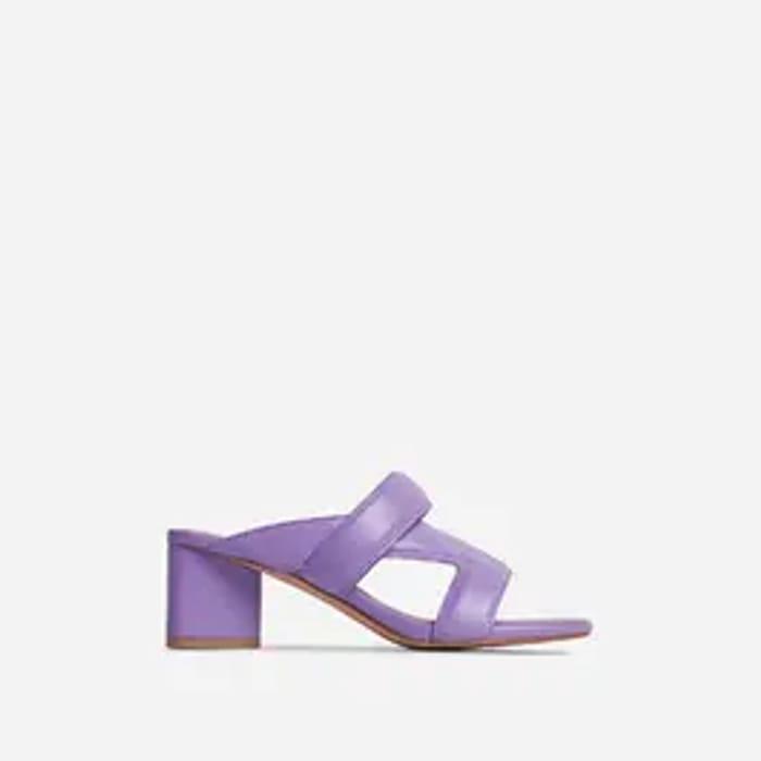 FANGIRL CROSS STRAP Block Heel Purple